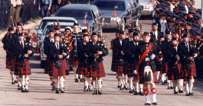 Pipe Band at Funeral